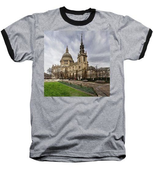 St Pauls Cathedral Baseball T-Shirt by Shirley Mitchell