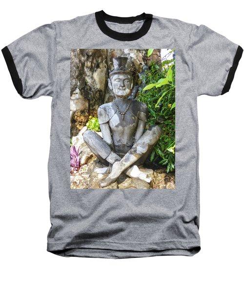 Statue Depicting A Thai Yoga Pose At Wat Pho Temple Baseball T-Shirt