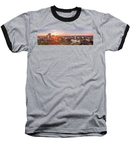 Sunrise In Hartford, Connecticut Baseball T-Shirt by Petr Hejl