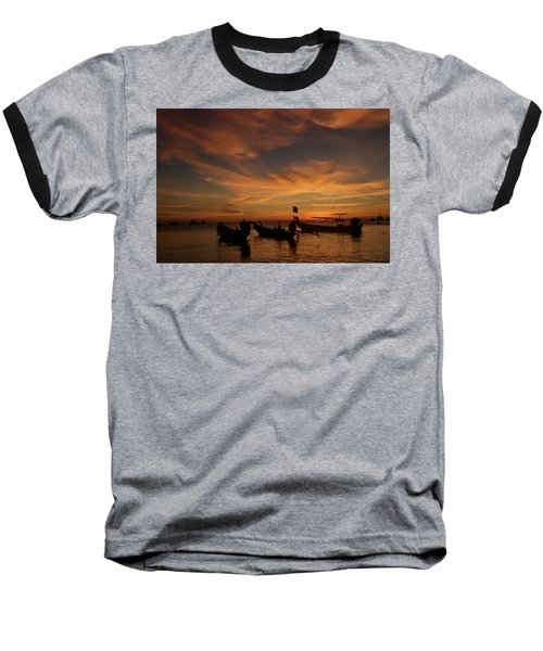 Sunrise On Koh Tao Island In Thailand Baseball T-Shirt