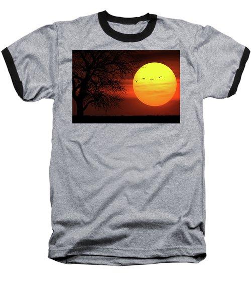 Baseball T-Shirt featuring the photograph Sunset by Bess Hamiti