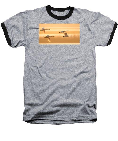 4 Swans Baseball T-Shirt