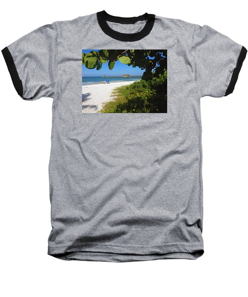 The Historic Naples Pier Baseball T-Shirt
