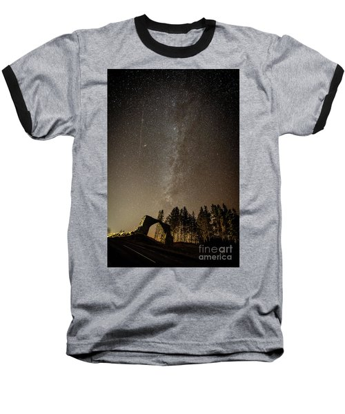 The Milky Way Over The Hafod Arch, Ceredigion Wales Uk Baseball T-Shirt