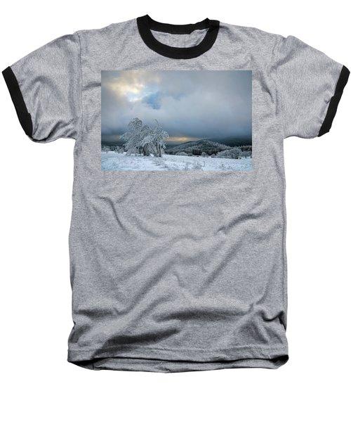 Typical Snowy Landscape In Ore Mountains, Czech Republic. Baseball T-Shirt
