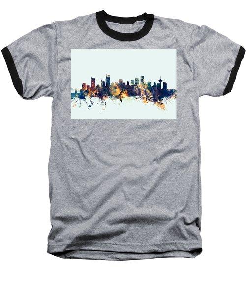 Vancouver Canada Skyline Baseball T-Shirt