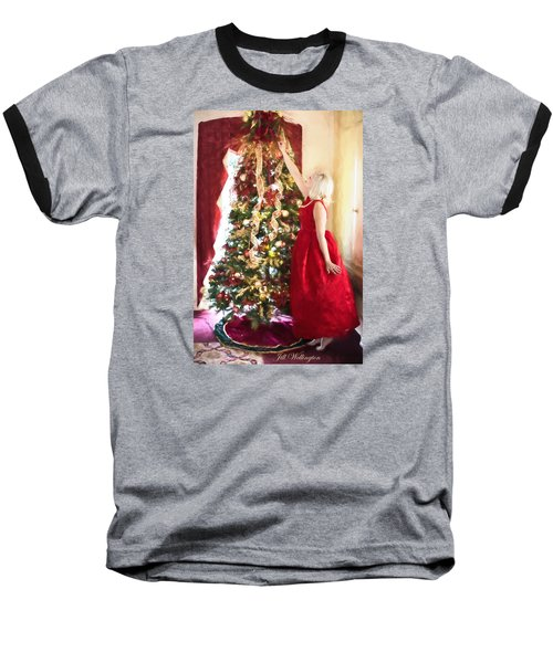 Vintage Val Home For The Holidays Baseball T-Shirt by Jill Wellington