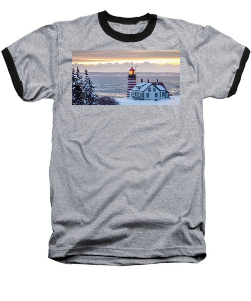 Baseball T-Shirt featuring the photograph West Quoddy Lighthouse by Trace Kittrell