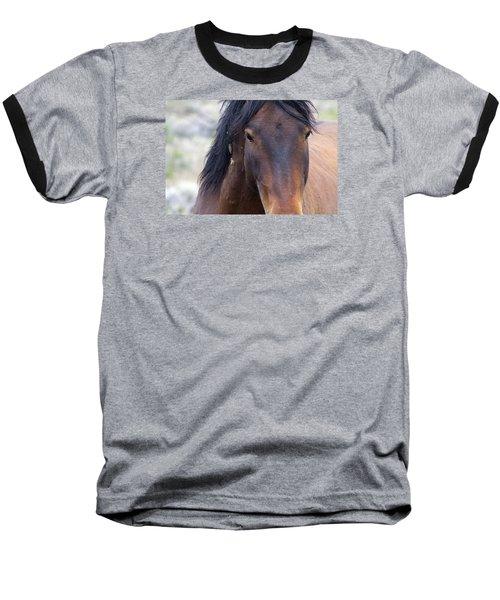 Wild Mustang Horse Baseball T-Shirt