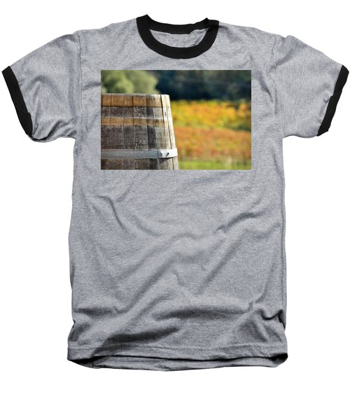 Wine Barrel In Autumn Baseball T-Shirt