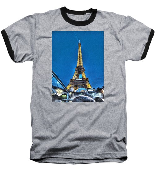 Baseball T-Shirt featuring the pyrography Yury Bashkin Paris by Yury Bashkin