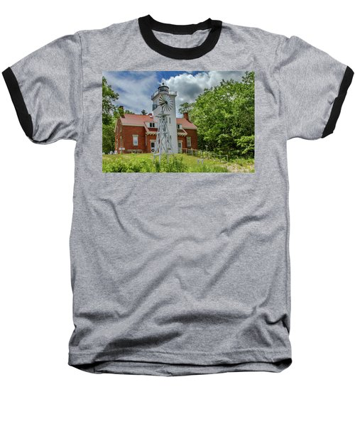 Baseball T-Shirt featuring the photograph 40 Mile Point Lighthouse by Bill Gallagher