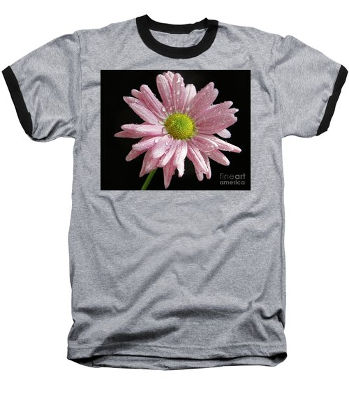 Pink Flower Baseball T-Shirt by Elvira Ladocki