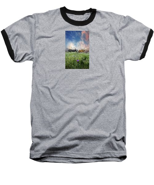 Baseball T-Shirt featuring the photograph 4376 by Peter Holme III