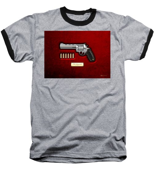 .44 Magnum Colt Anaconda On Red Velvet  Baseball T-Shirt