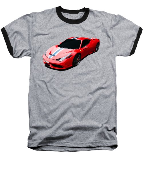 458 Speciale Baseball T-Shirt by Roger Lighterness