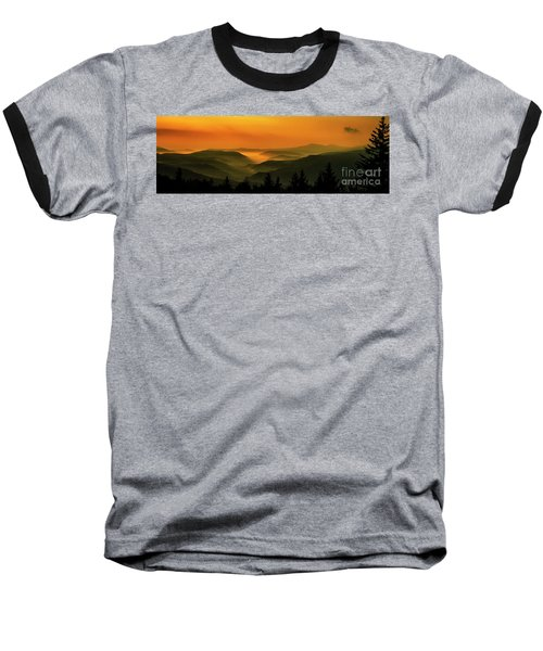 Baseball T-Shirt featuring the photograph Allegheny Mountain Sunrise by Thomas R Fletcher