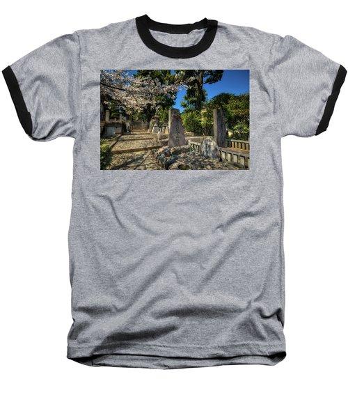 47 Samurai And Cherry Blossoms Baseball T-Shirt
