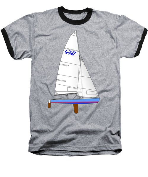 470 Olympic Sailboat Baseball T-Shirt