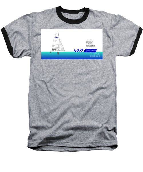470 Olympic Sailing Baseball T-Shirt