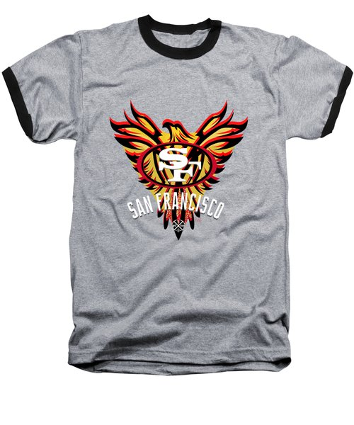 49er Phoenix  Baseball T-Shirt by Douglas Day Jones