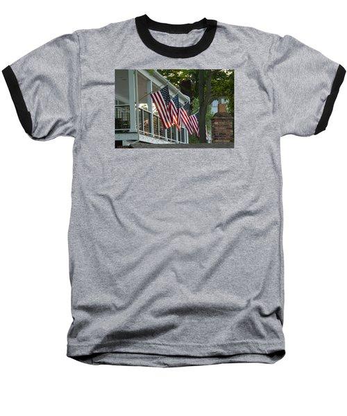 4th Of July Porch Baseball T-Shirt