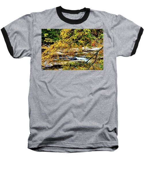 Autumn Middle Fork River Baseball T-Shirt by Thomas R Fletcher