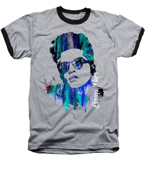 Bruno Mars Collection Baseball T-Shirt by Marvin Blaine