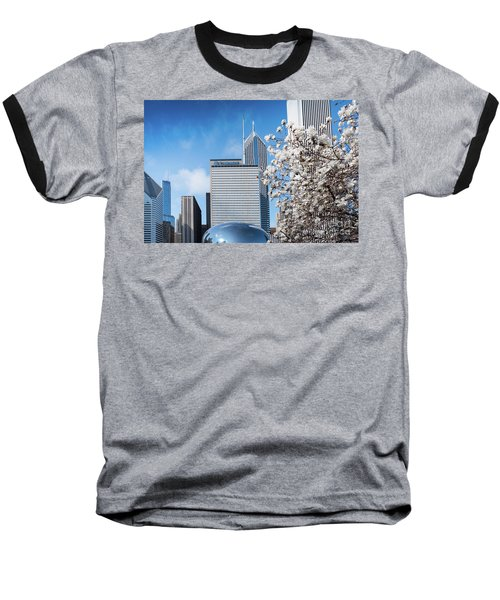 Chicago Bean Millenium Park Baseball T-Shirt