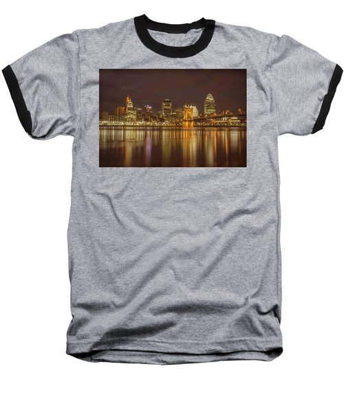 Cincinnati, Ohio Baseball T-Shirt by Scott Meyer