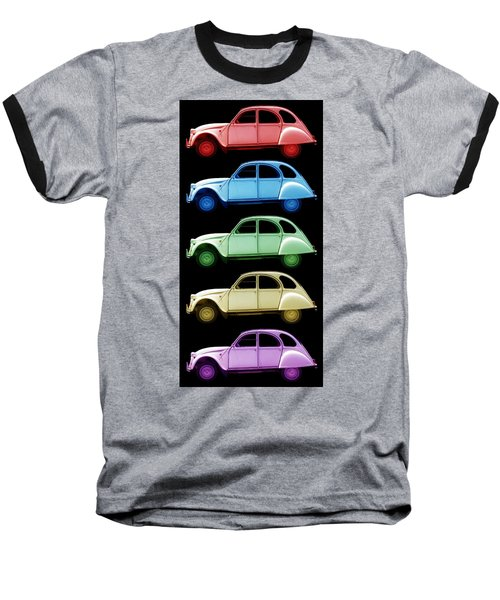 5 Citroens Baseball T-Shirt by Andrew Fare