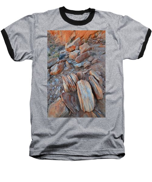 Baseball T-Shirt featuring the photograph Colorful Cove In Valley Of Fire by Ray Mathis