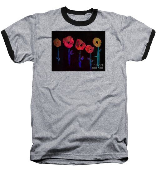 5 Flowers Baseball T-Shirt