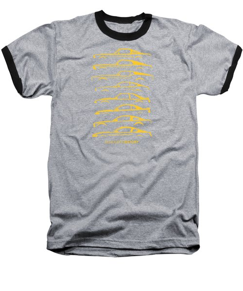 Ford Mustang Silhouettehistory Baseball T-Shirt
