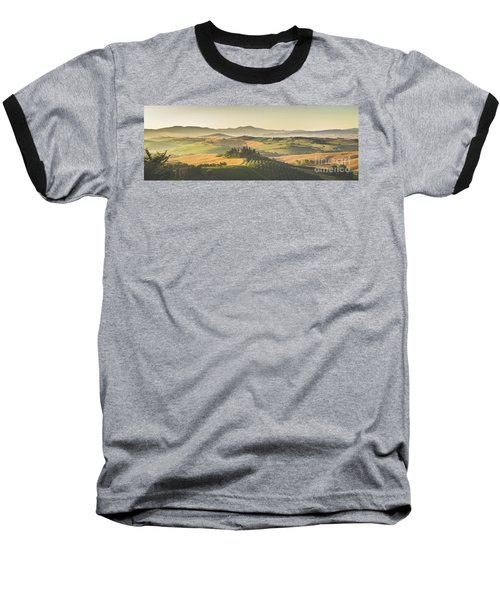 Golden Tuscany Baseball T-Shirt by JR Photography