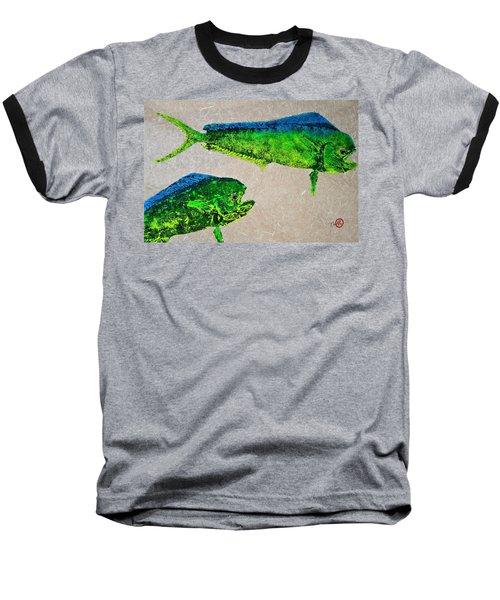 Gyotaku - Mahi Mahi - Dorado - Dolphinfish Baseball T-Shirt