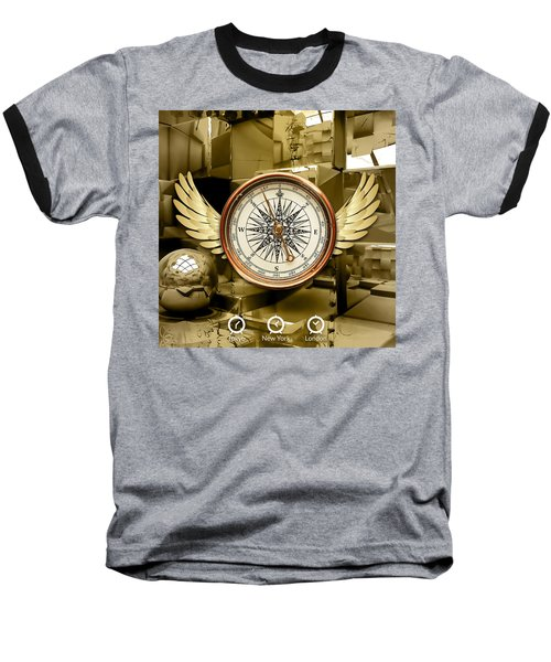 Baseball T-Shirt featuring the mixed media Journey by Marvin Blaine