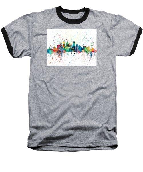 Minneapolis Minnesota Skyline Baseball T-Shirt