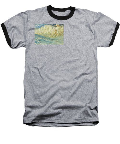 Neptune's Horses Baseball T-Shirt by Walter Crane