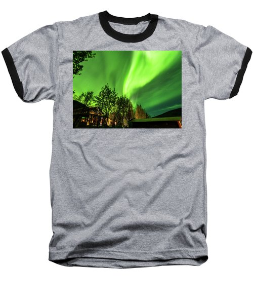 Northern Lights, Aurora Borealis At Kantishna Lodge In Denali National Park Baseball T-Shirt