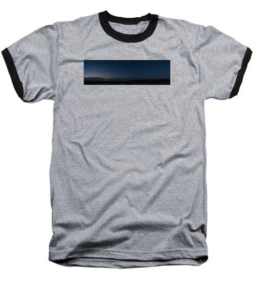 5 Planet Alignment Panorama Baseball T-Shirt