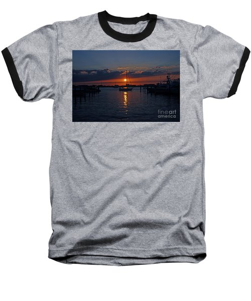 5- Sailfish Marina Sunset In Paradise Baseball T-Shirt by Joseph Keane