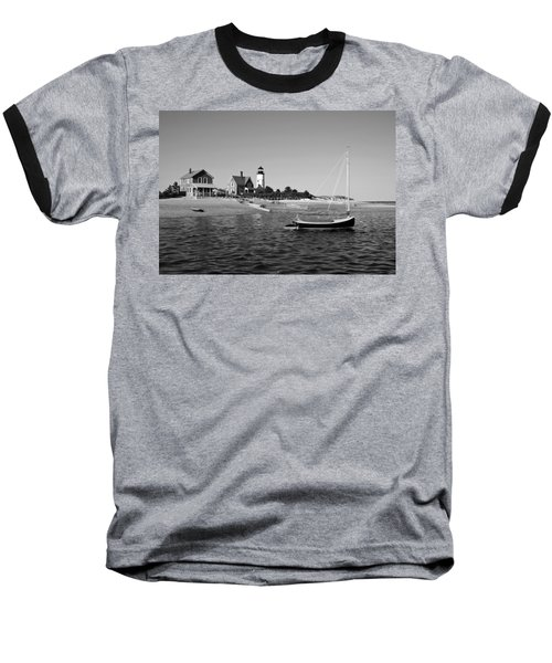 Baseball T-Shirt featuring the photograph Sandy Neck Lighthouse by Charles Harden