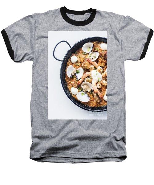 Seafood And Rice Paella Traditional Spanish Food Baseball T-Shirt