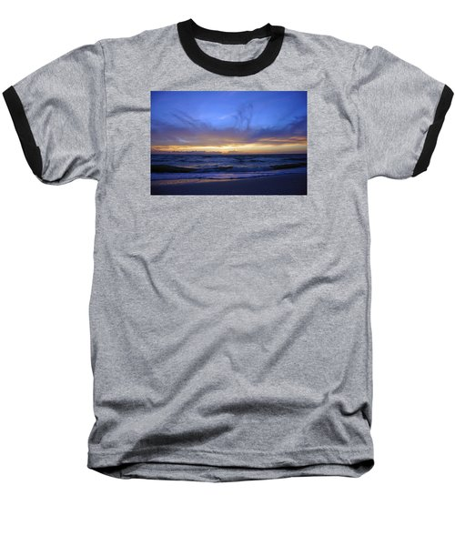 Baseball T-Shirt featuring the photograph Sunset At Delnor Wiggins Pass State Park by Robb Stan
