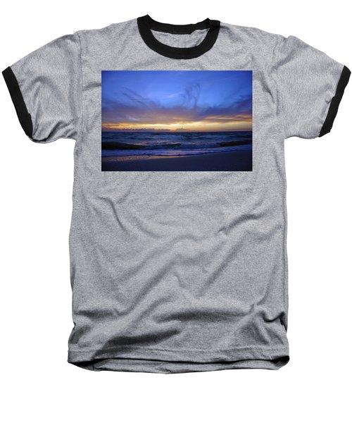 Sunset At Delnor Wiggins Pass State Park Baseball T-Shirt