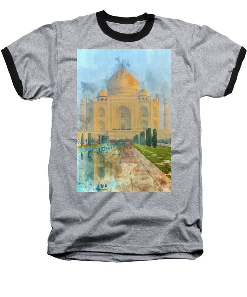 Taj Mahal In Agra India Baseball T-Shirt