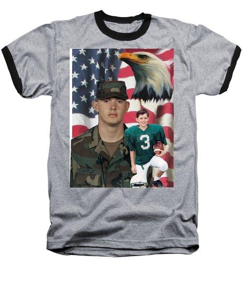 Texas Hero Baseball T-Shirt by Ken Pridgeon