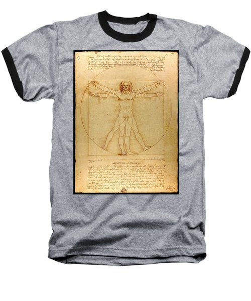 Vitruvian Man Baseball T-Shirt