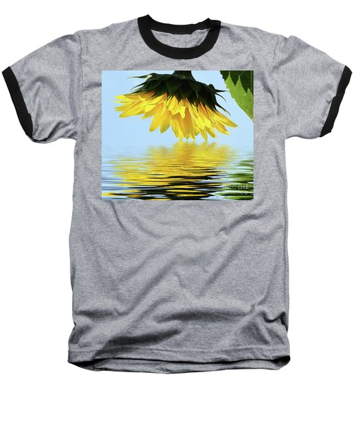 Nice Sunflower Baseball T-Shirt by Elvira Ladocki